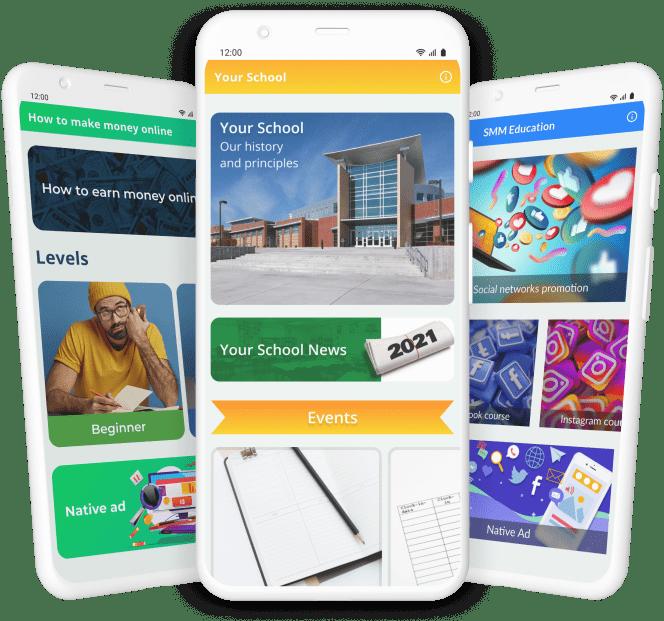 Education apps phone screenshot