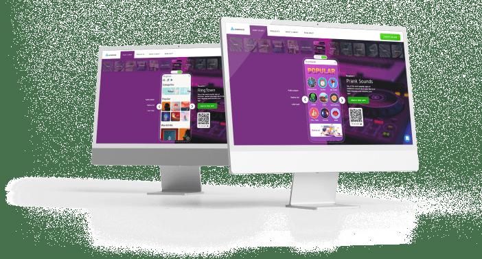 desktop screen with an media player app
