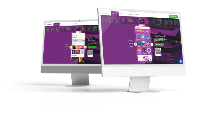 desctop screen with an song app