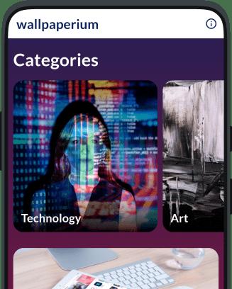 Second Andromo wallpaper app screen