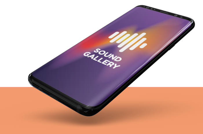 phone screen with an audio app on it