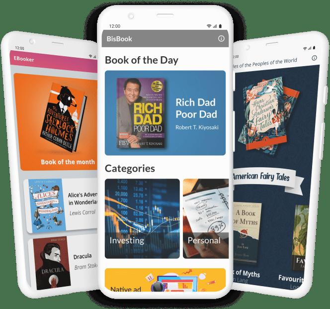 Phones with eBook Screenshots